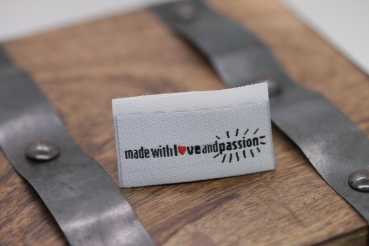 "Label-Set ""made with love and passion"" 3 Stück"
