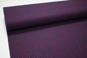 French Terry STONE DOTS magenta FOSSAN DESIGN
