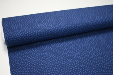 French Terry STONE DOTS blue FOSSAN DESIGN