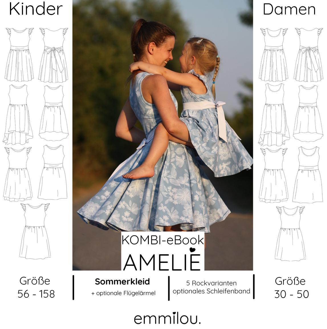 """emmilou. - kombi-ebook sommerkleid """"amelie"""" größe 56-158"""